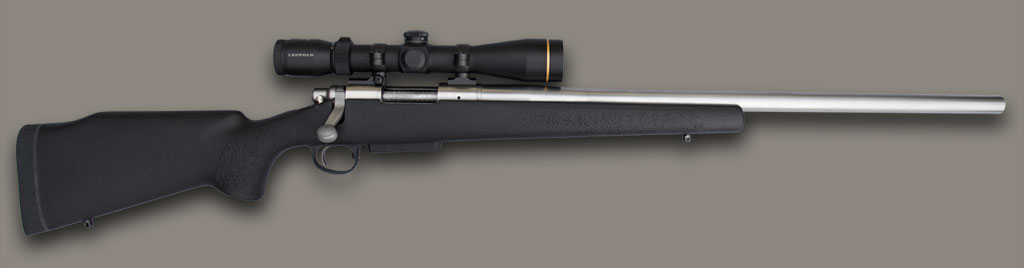 Ultimate Firearms Game Breaker Rifle McMillan stock scoped black textured