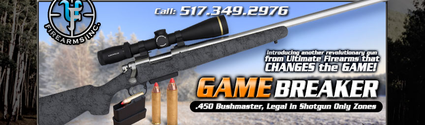 best gun for shotgun only units - game breaker .450 Bushmaster by Ultimate Firearms