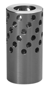 closeup of magnum muzzleloader muzzle brake to reduce recoil